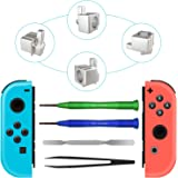 Joy-con Replacement Latches For Nintendo Switch, Yoelike Metal Lock Buckles Repair Tools Kit for Nintendo Switch NS Joy Con w