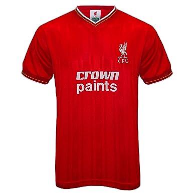 more photos 74bc2 f0637 Liverpool FC Official Football Gift Mens 1986 Retro Home & Away Kit Shirt