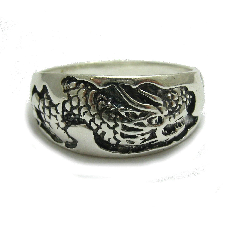 Bague en argent massif 925 Dragon R000753