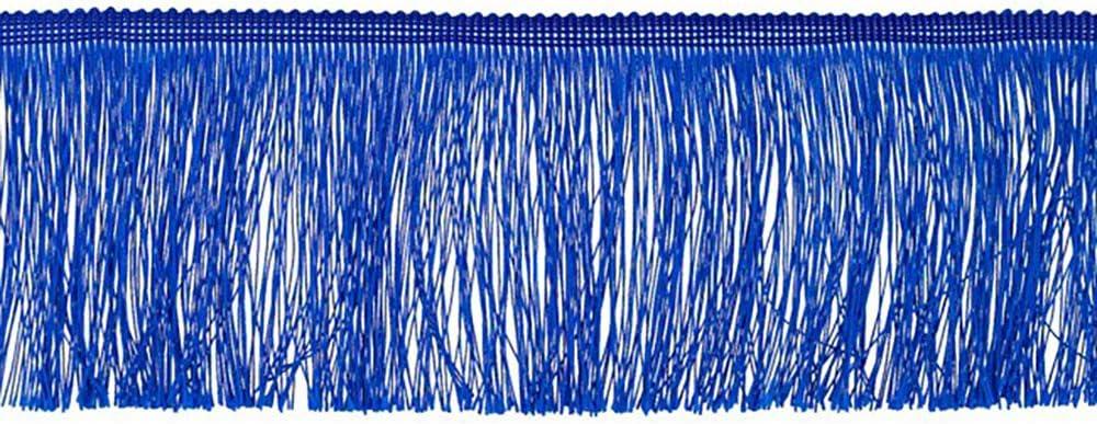 Fransen Fransenborte 10 cm breit royalblau Borte Accessoires Karneval Dekorationen Preis gilt f/ür 1 m