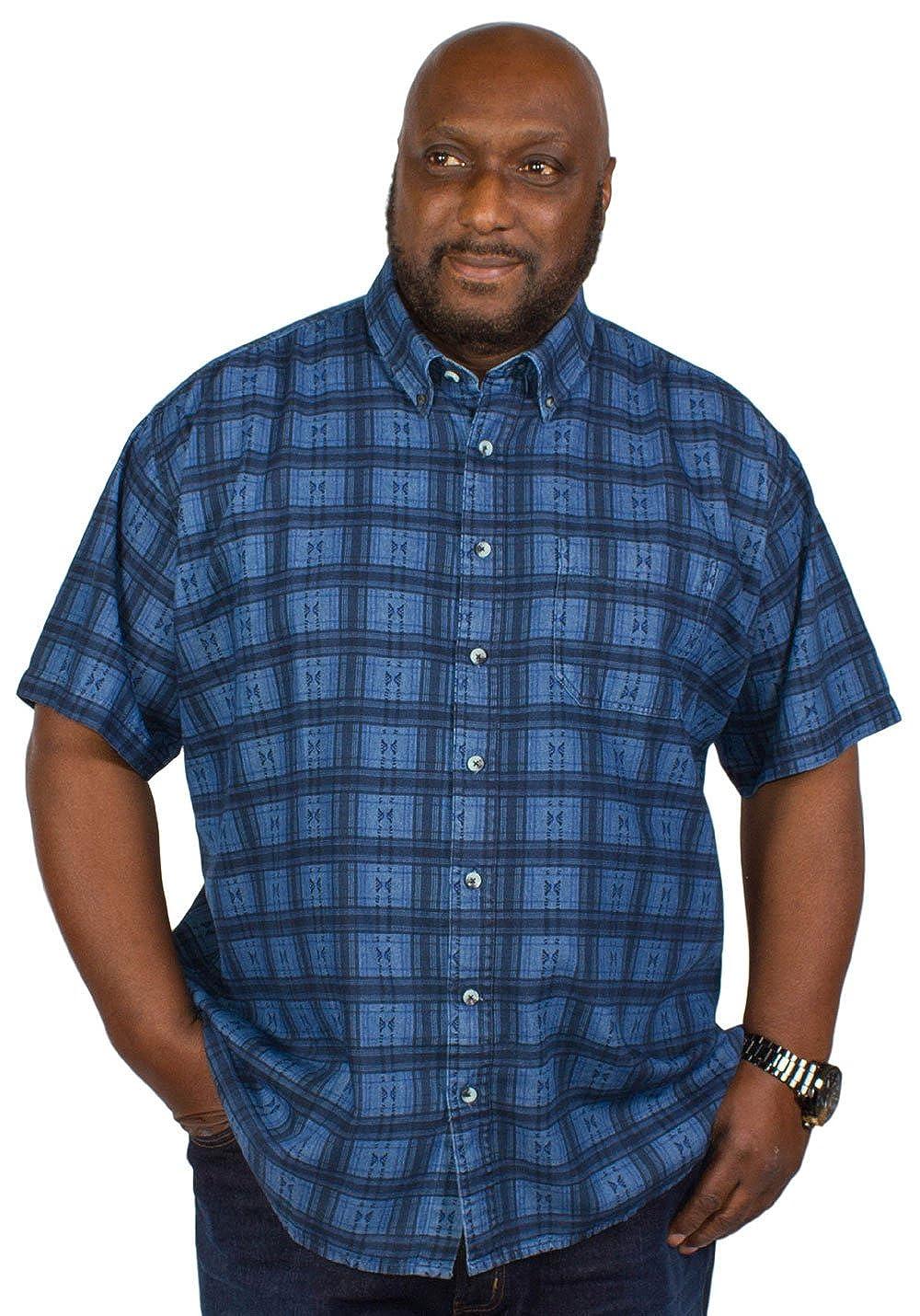 Espionage Big Mens Printed Denim Shirt 2xl Amazon Co Uk Clothing