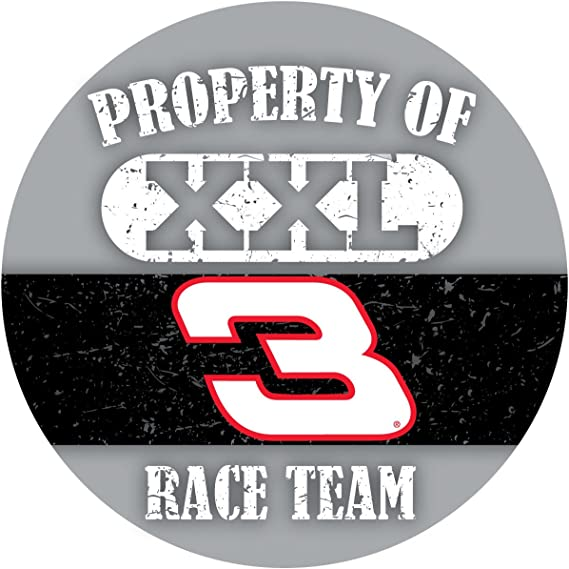 Dale Earnhardt Sr #3 Traditional 4 Round Decal Sticker Auto Home Nascar Racing