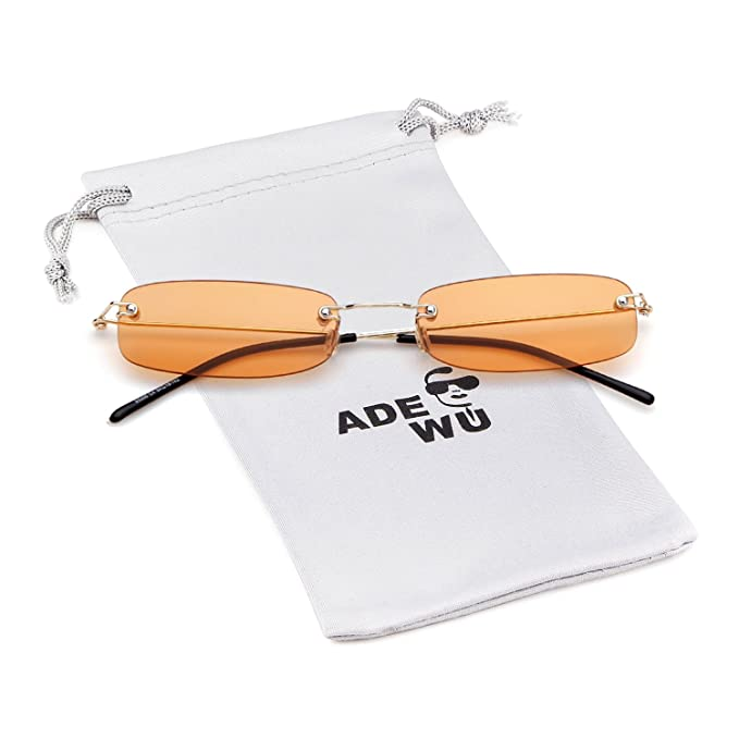 Amazon.com: Gafas de sol rectangulares sin borde marca ...