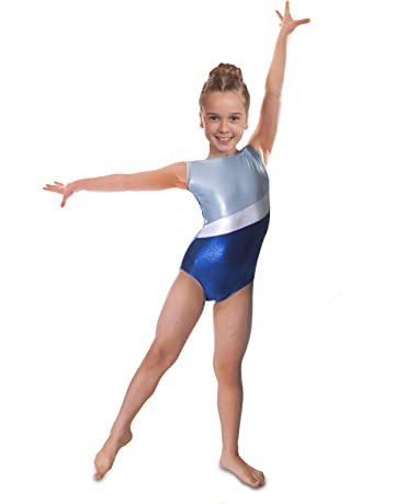 Vincenza Dancewear  Shimmer  Girls Short Sleeved (Sleeveless) Leotard for  Gymnastics 083928a56c5