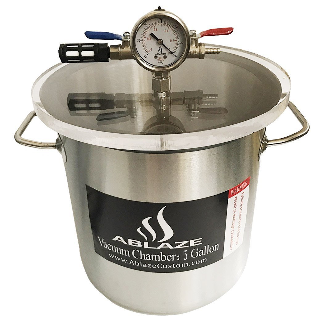 ABLAZE 5 Gallon Gal Vacuum Chamber Stainless Steel Degassing Urethanes Silicone Epoxies Lid Kit by Ablaze (Image #2)
