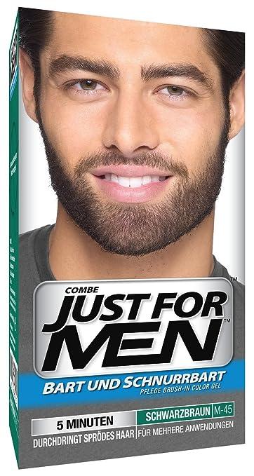 3 x Just For Men Moustache and Beard Facial Hair Gel Colour M45 ...
