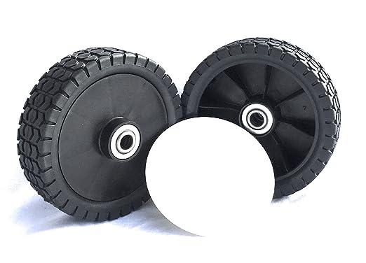 2 ruedas de césped 150 mm x 38 mm - Ruedas de repuesto para ...