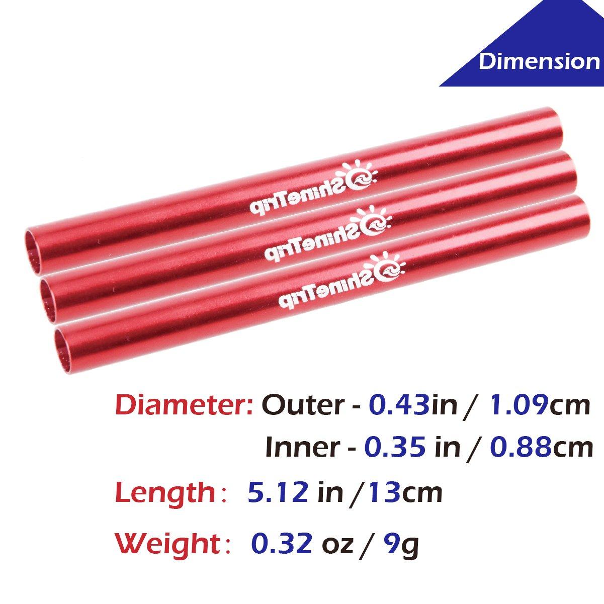 TRIWONDER Tube de r/éparation de rechange de kit de r/éparation dattelle de r/éparation de tuyau de tente pour le diam/ètre 7.9-8.5mm