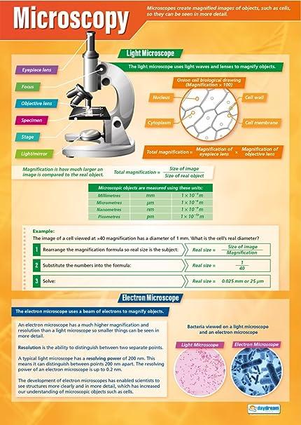 Amazon com : Microscopy | Science Posters | Laminated Gloss