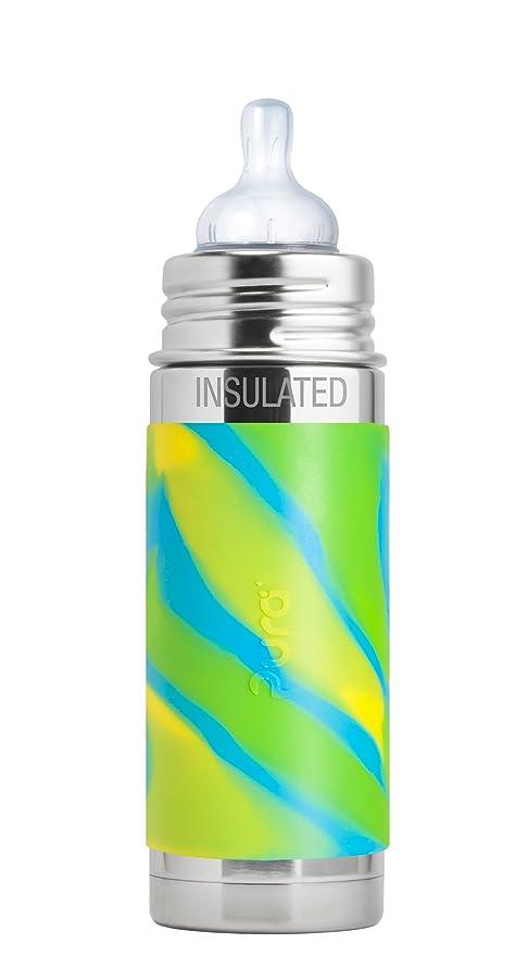 Pura - Botella de acero inoxidable aislada con silicona ...