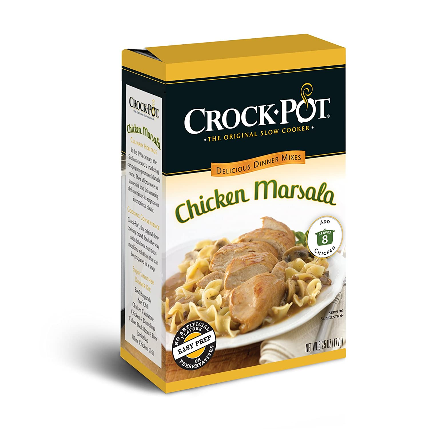 Crock-Pot Delicious Dinners, All Natural Chicken Marsala, Pack of 3