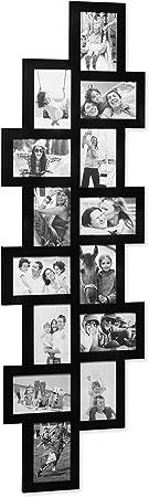 Comprar Relaxdays Marco de Fotos Múltiple para 14 Fotografías, Plástico, Negro, 118x36x1.5 cm