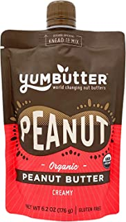 product image for Organic Peanut Butter by Yumbutter, USDA Organic, Gluten Free, Vegan, Non GMO, 6.2oz Pouch