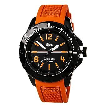 amazon com lacoste fidji silicone orange men s watch 2010714 lacoste fidji silicone orange men s watch 2010714