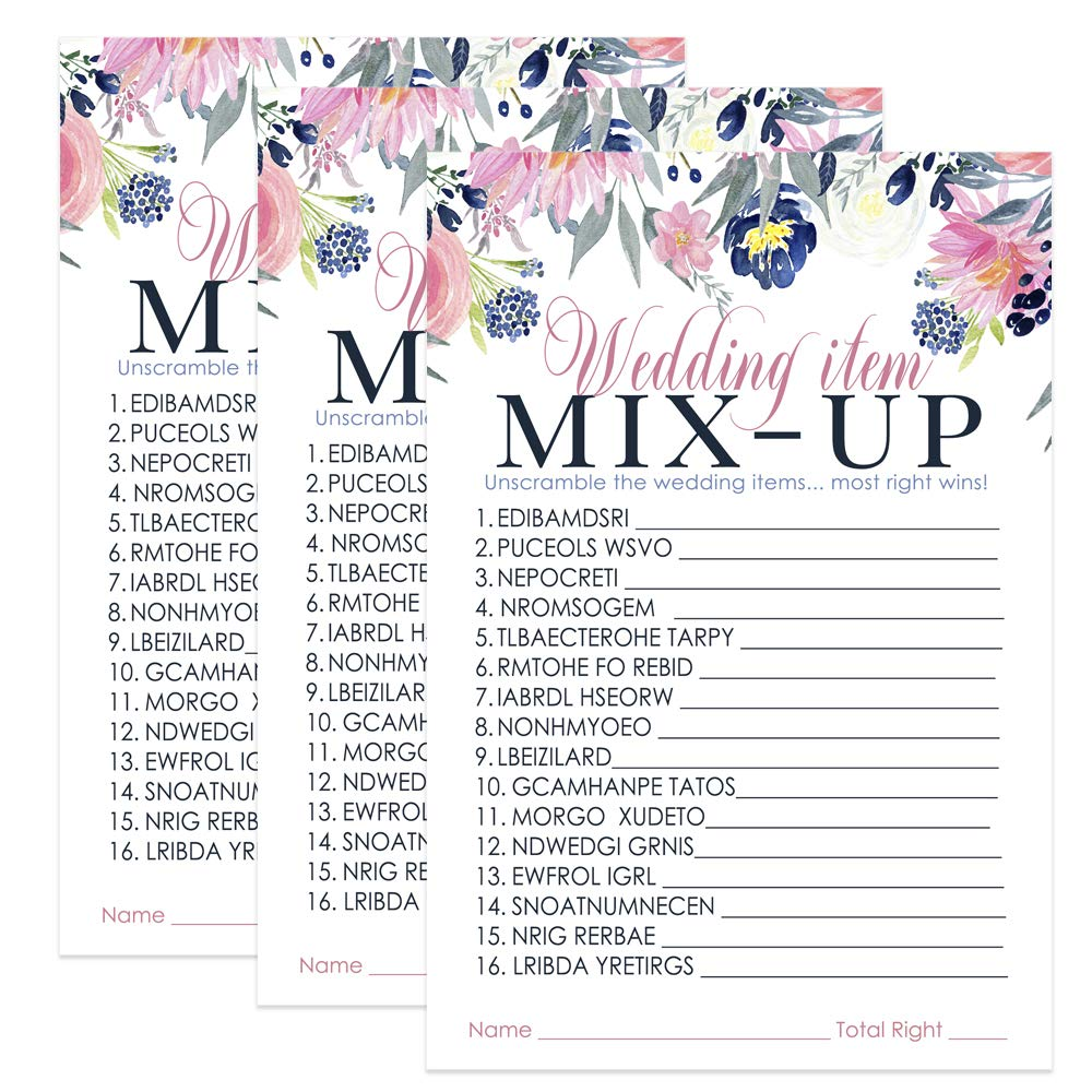 Amazon com: Paper Clever Party Rustic Bridal Shower Word Scramble