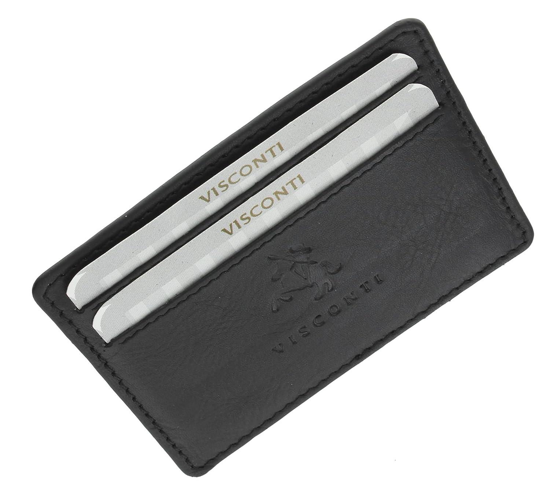 Visconti Porta carte di credito sottile in pelle CC1 Nero