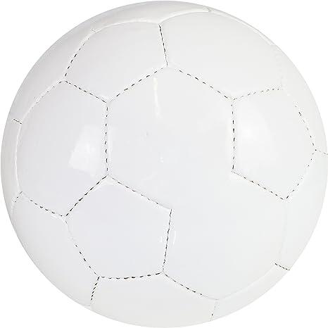MJS Sports LTD - Balón de fútbol, color blanco, talla 5, sin ...