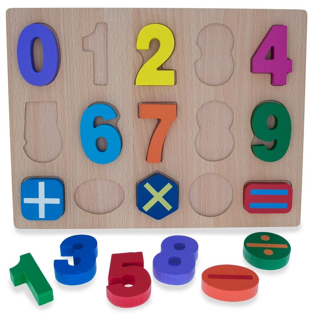 BestPysanky Numbers Counting Learning Wooden Blocks Puzzle