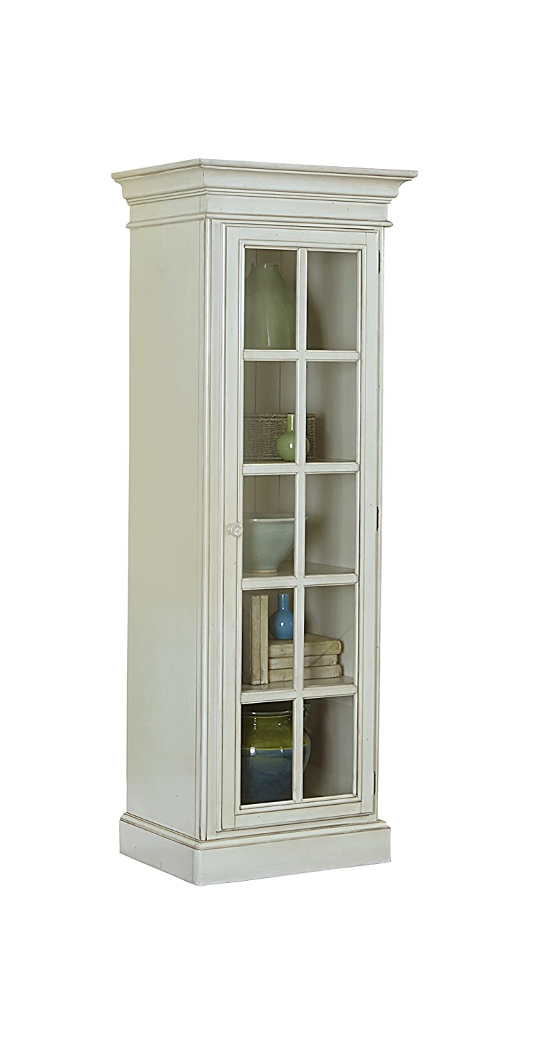 Hillsdale Furniture 5265-896 Pine Island Small Display Cabinet, Old White Finish
