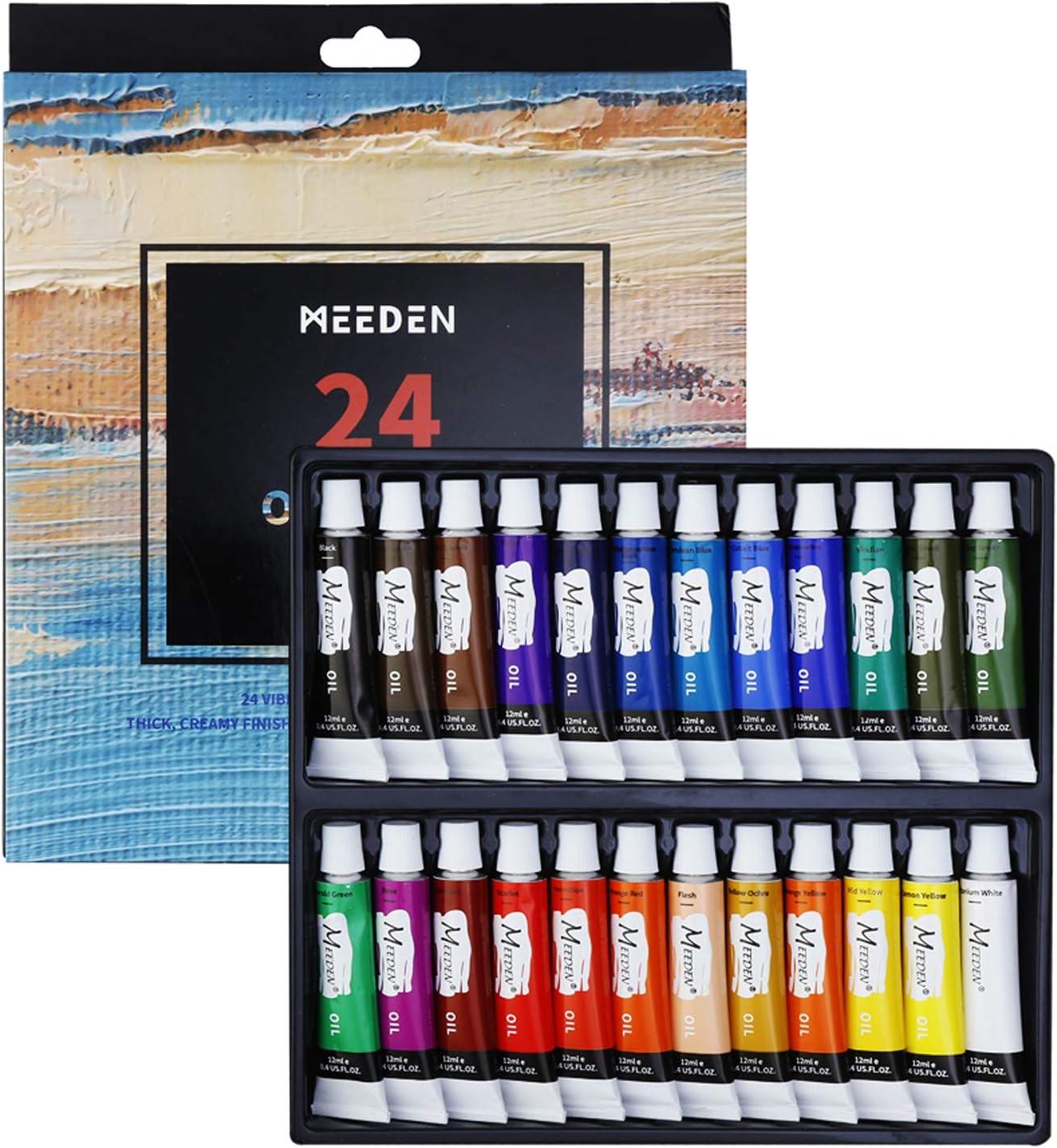 Pintura al óleo MEEDEN de 24 tubos para niños, estudiantes..