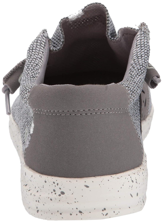 Dude Shoes Uomo Wally Sox Flusso d'Aria Grigio Chiaro UK8