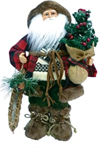 "Santa's Workshop 8830 Woodsman with Canoe Figurine, 16"""