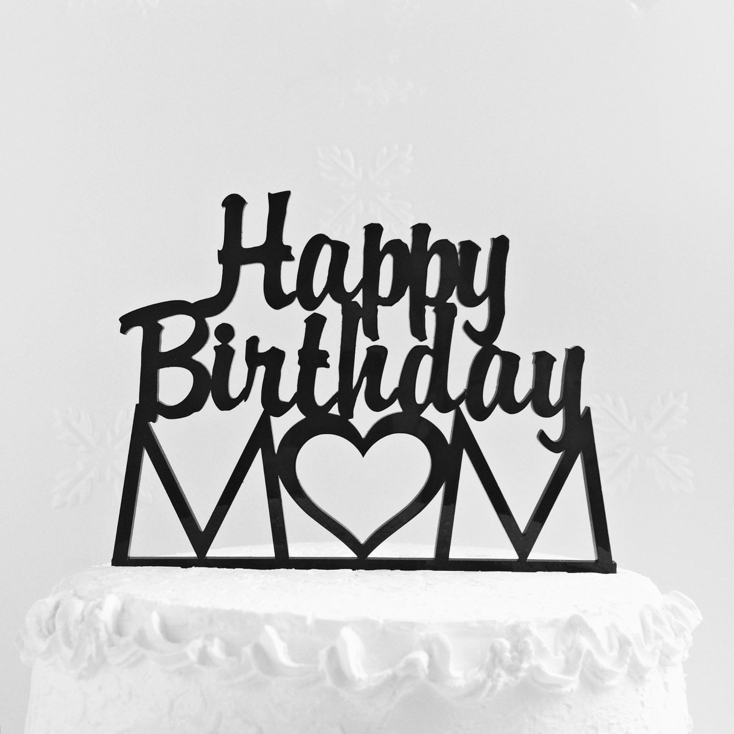 Magnificent Amazon Com Happy Birthday Mom Cake Topper Mothers Day Gift Personalised Birthday Cards Veneteletsinfo