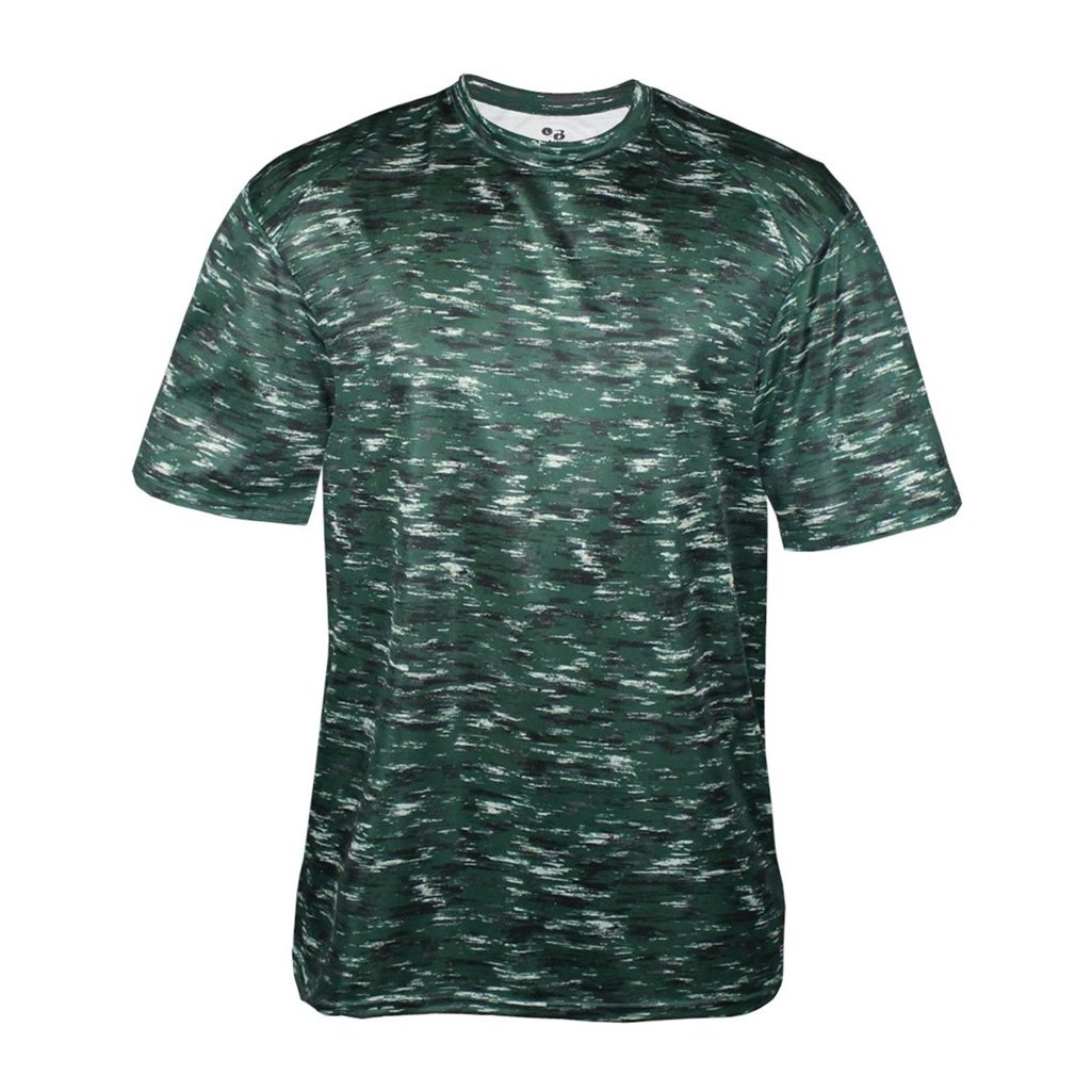 Badger Sport Youth Static Sublimated Tee (X-Small, Forest Static Tee)