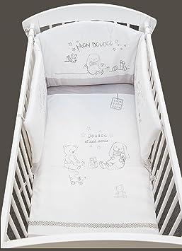 tour de lit bébé amazon Les Chatounets Tour de Lit Motif Lapin Blanc/Gris: Amazon.fr  tour de lit bébé amazon