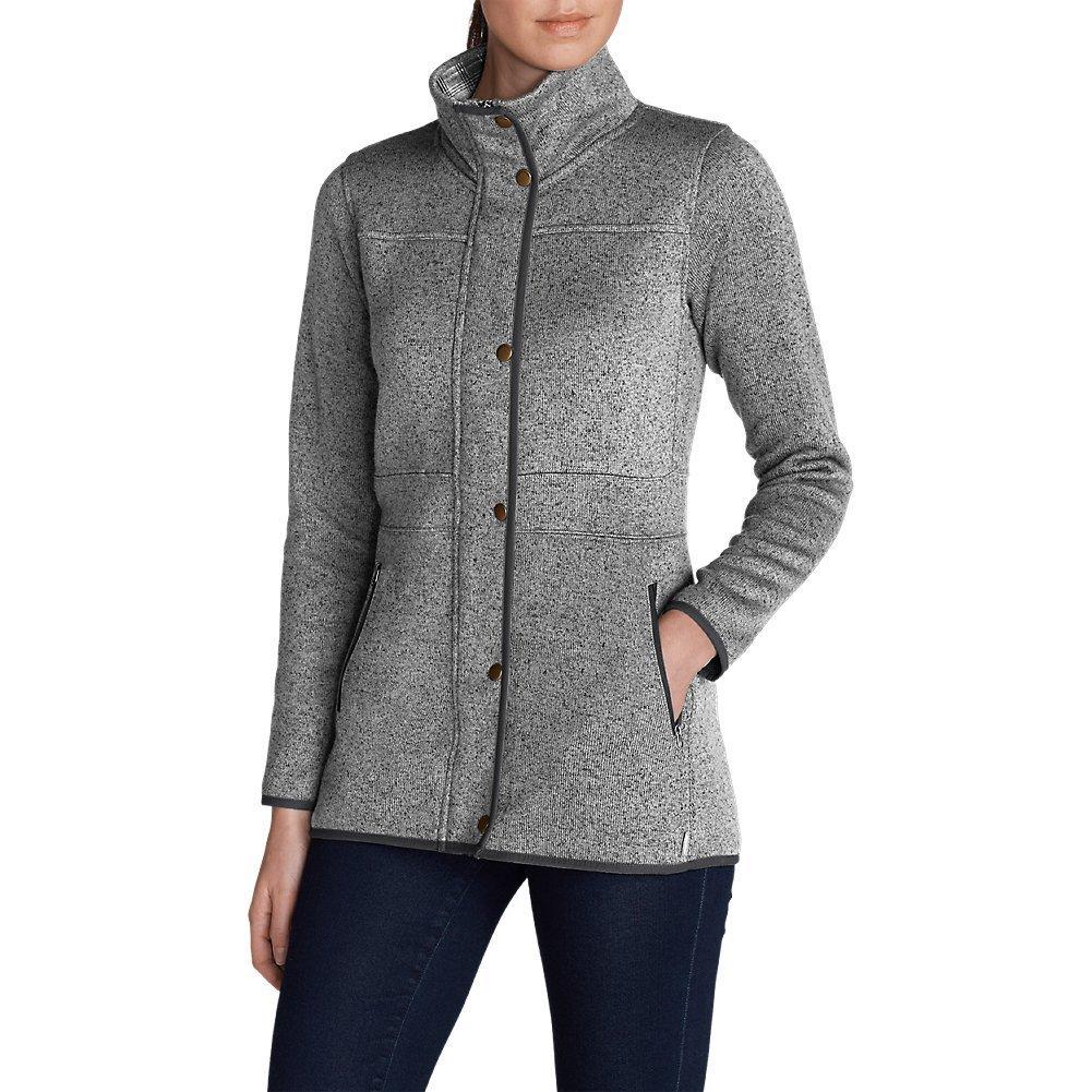 Eddie Bauer Women's Radiator Fleece Field Jacket, Carbon Regular L