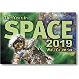 """The Year in Space 2019 Wall Calendar, Large Format 16"""" x 22"""" When Open, Over 120 Astronomy & Space Exploration Images, Moon Phases, Space History, Sky Events"""