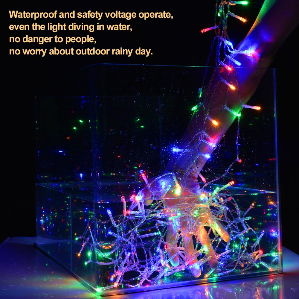 Curtain Lights, IMAGE 224 LED 117.6 IN 79.2 IN LED Lights String Fairy String Lights for Garden/Wedding/Party/Window/Home Decorative - Multi Color by Unknown (Image #6)