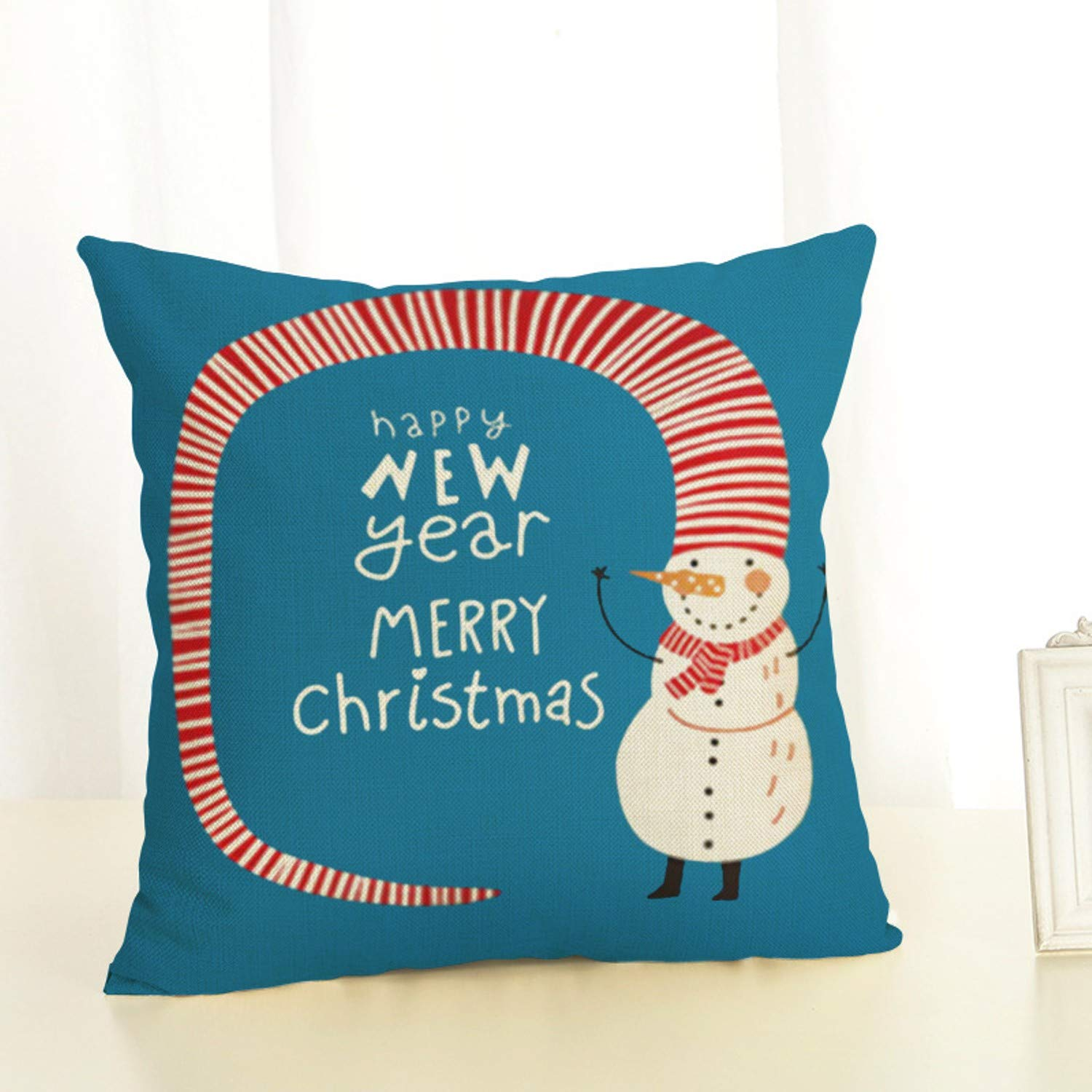 Amazon.com: JEWH New Cartoon Santa Claus Christmas Eve and Elk Pattern -  Christmas Series Linen Pillowcase Merry Christmas Decorations for Home (7):  Toys & ...