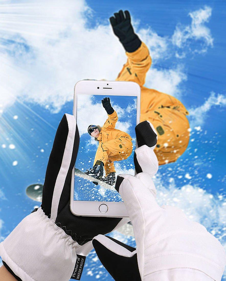 Jasmine Womens Thinsulate Insulated Waterproof Zipper Pocket Snow Gloves