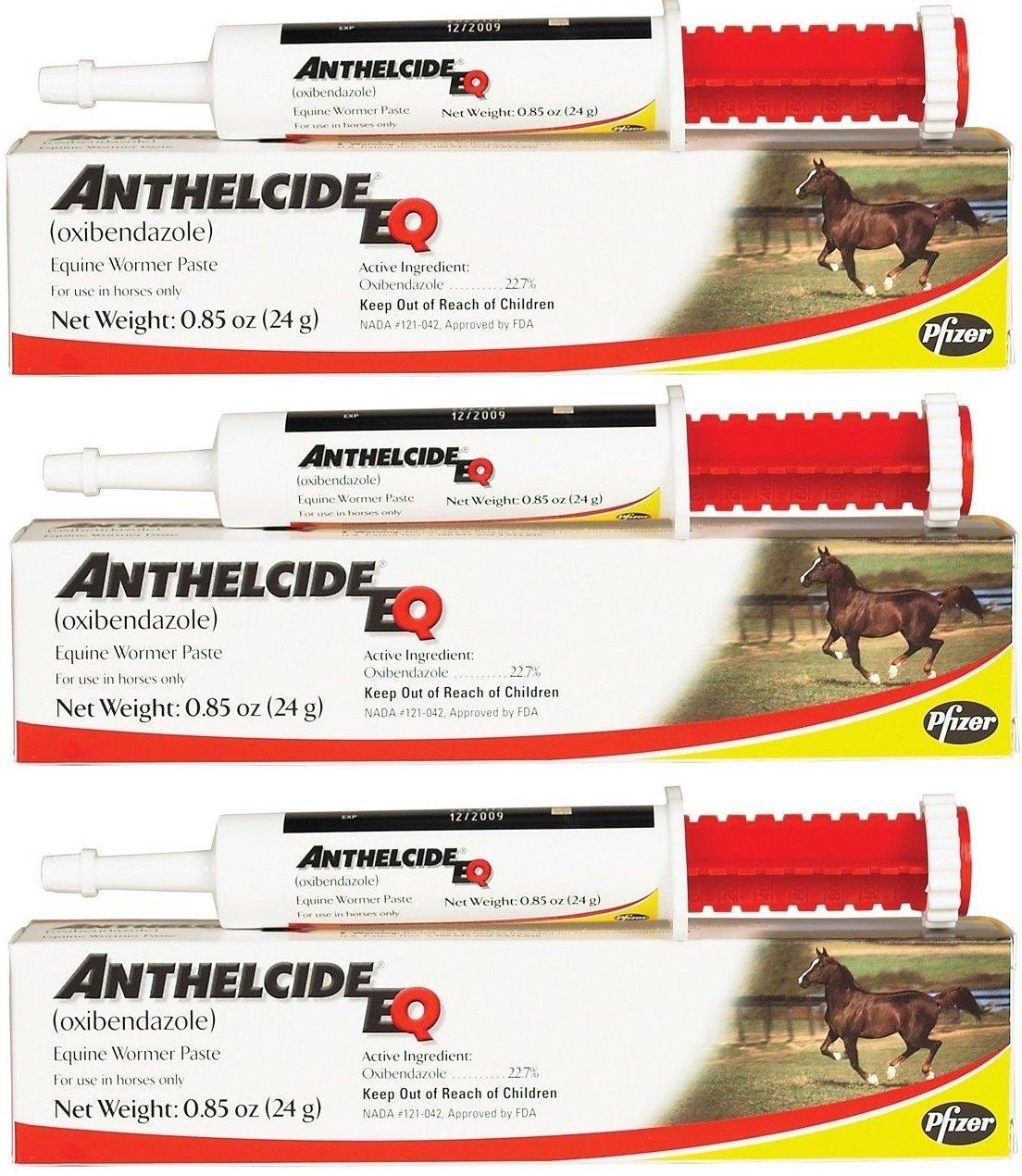 Pfizer Anthelcide EQ Equine Wormer Paste De-Wormer Horse (3 Tubes)