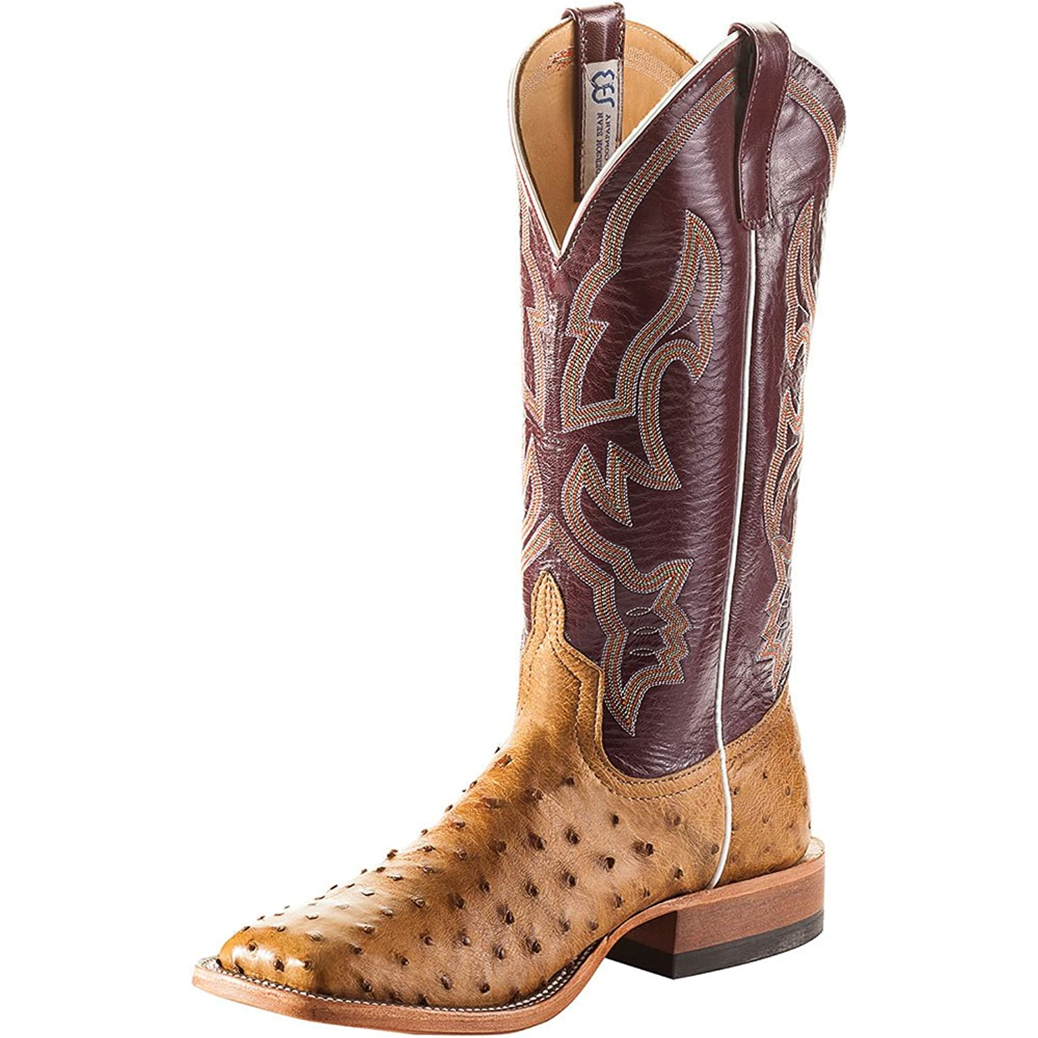 d1464ebf959 Anderson Bean Mens Mad Dog Full Quill Ostrich 13in Sangria 30%OFF ...