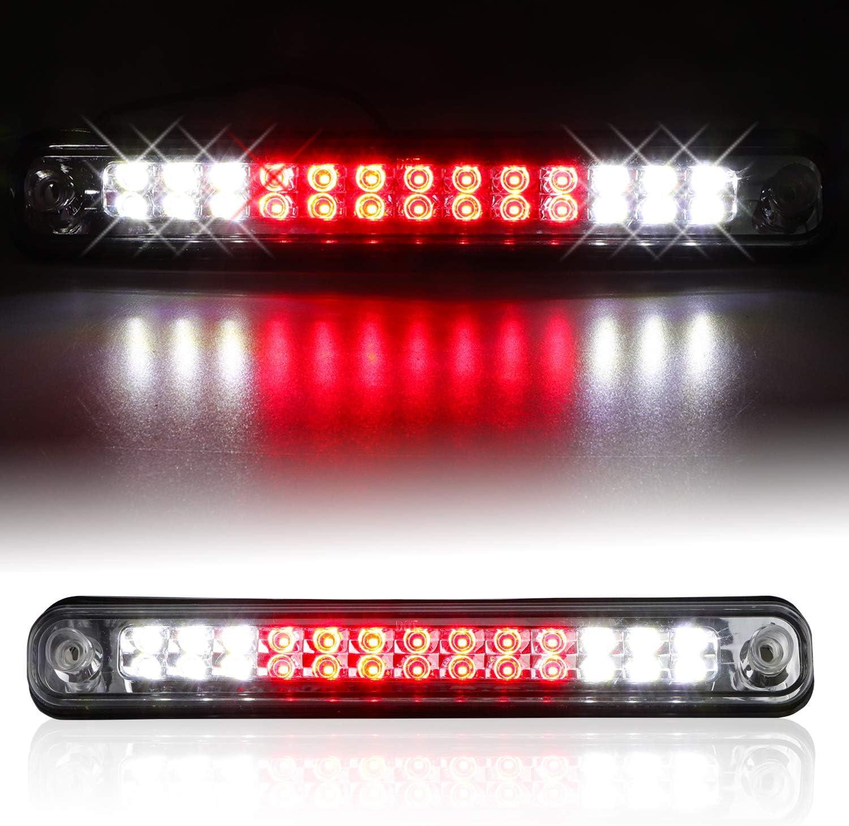 Urite2GO LED 3rd Third Brake Light Smoke housing Compatible with 1994-1999 Chevy C1500 K1500 Silverado GMC Sierra 94-00 C2500 C3500 K2500 K3500 Pickup High Mount Stop Lamp Assembly