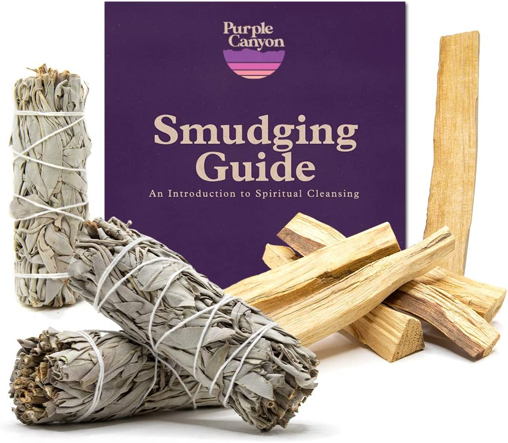 PURPLE CANYON White Sage Sticks & Palo Santo Smudging Refill Kit | for Smudge Rituals, Home Cleansing, Meditation, Aromatherapy