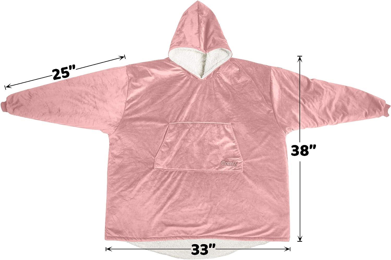 Einheitsgr/ö/ße /Übergro/ße Mikrofaser /& Sherpa tragbare Decke Pink The Comfy Original Erwachsene