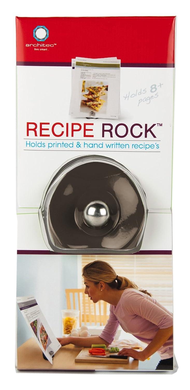 Magnetic Recipe Holder Architec Recipe Rock Flat Black