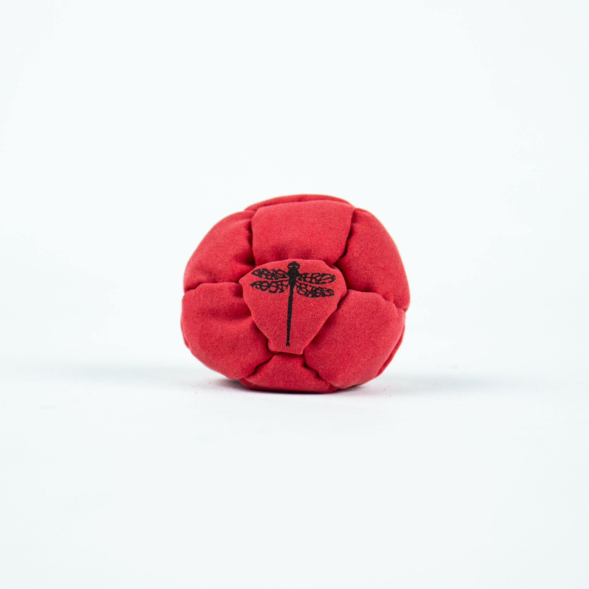 Dragonfly Footbags All Red Nemesis 14 Panel Sand Filled (Hacky Sack)