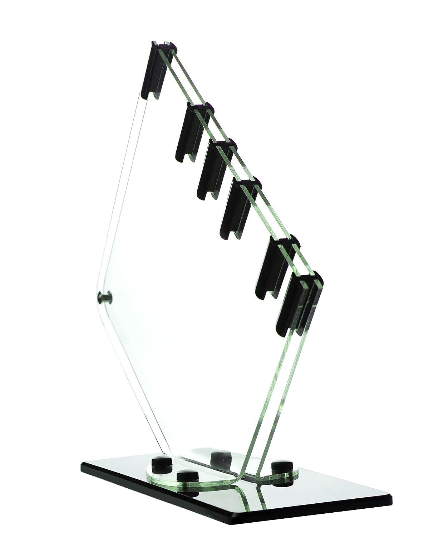 GENIUS Acryl Messerständer Messerblock für 5 Messer transparent