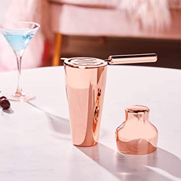 Conjunto de Coctelera Parisian Premium cobre con manual de recetas y accesorios