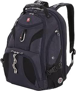 SwissGear SA1923 Noir Satin TSA Friendly ScanSmart Laptop Backpack - Fits Most 15 Inch Laptops and Tablets