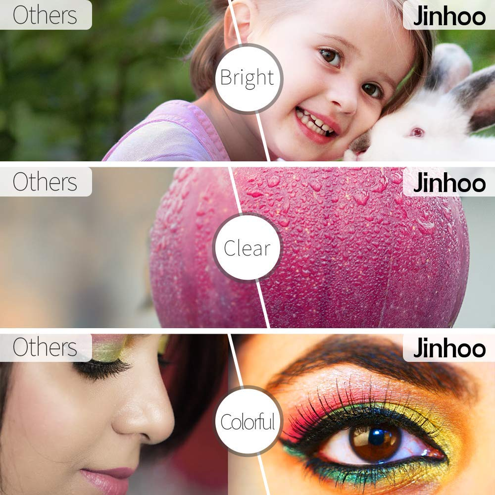 2019 Newest Jinhoo Mini Projector 2600 Brightness Full HD 1080P Supported Home Theater Video