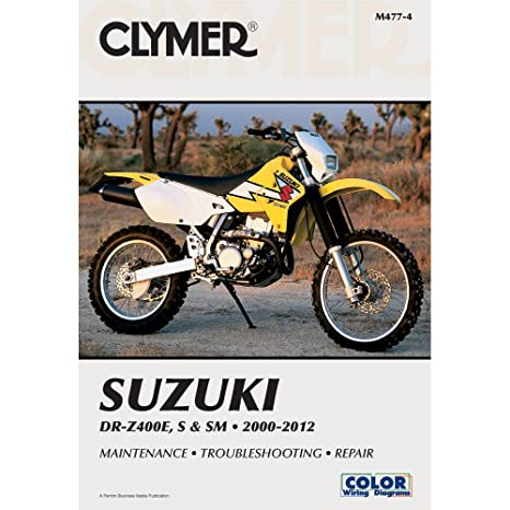 amazon com 00 14 suzuki drz400s clymer service manual misc rh amazon com 2006 suzuki drz400sm owners manual 2006 Suzuki 400Z