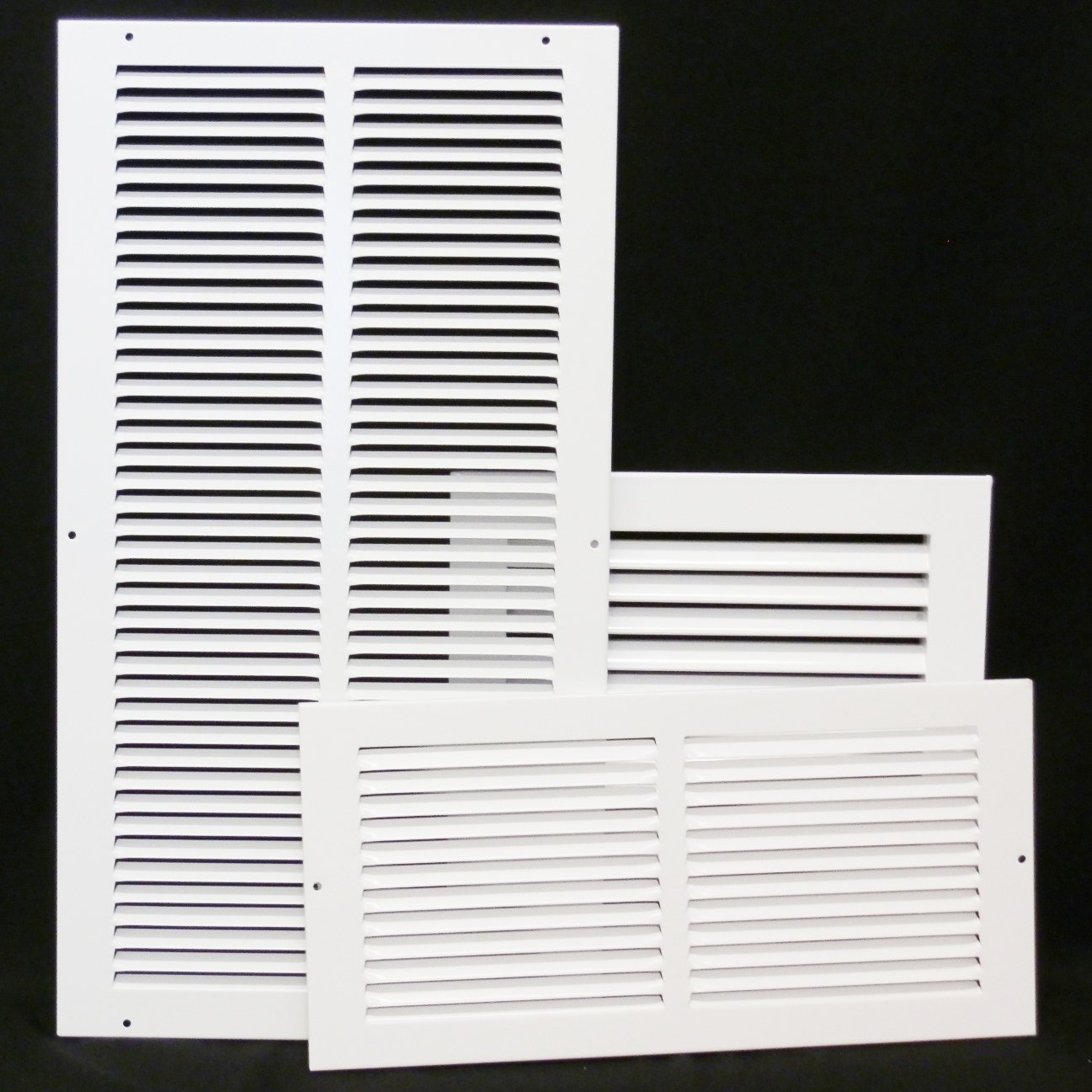 30'' X 14 Steel Return Air Filter Grille for 1'' Filter - Removable Face/Door - HVAC DUCT COVER - Flat Stamped Face - White [Outer Dimensions: 32.5''w X 16.5''h] by HVAC Premium (Image #4)