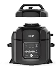 Ninja TenderCrisp Pressure Multi Cooker quart Black/Gray