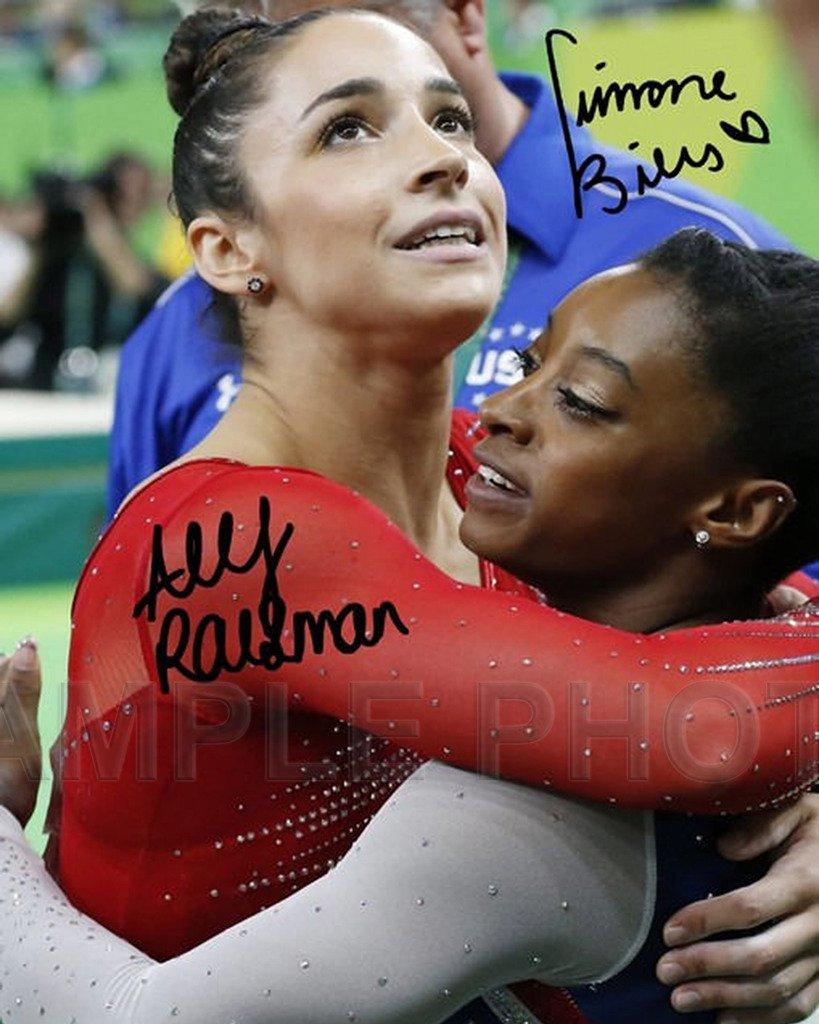 Simone Biles Aly Raisman RIO Olympic Gold Medal 8x10 Signed Photo Reprint raisman biles auto