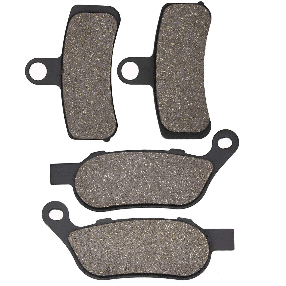 Cyleto Front and Rear Brake Pads for HARLEY DAVIDSON FXS Blackline 2011 2012 2013 FXSB Breakout 2013 2014 2015